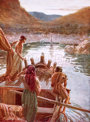 Jesus showing himself to Peter and others by the Sea of Galilee